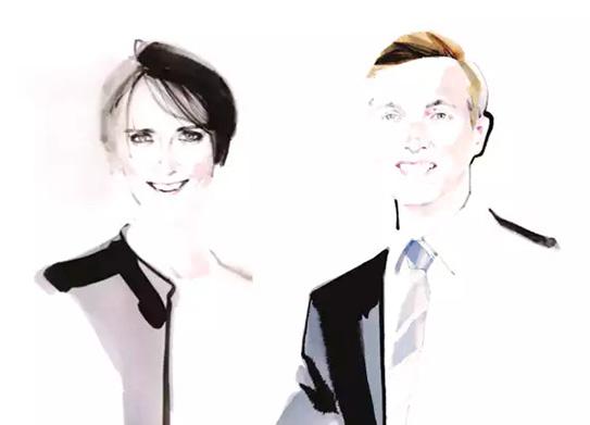 Heidi Barnes e Thibault de Saint Vincent