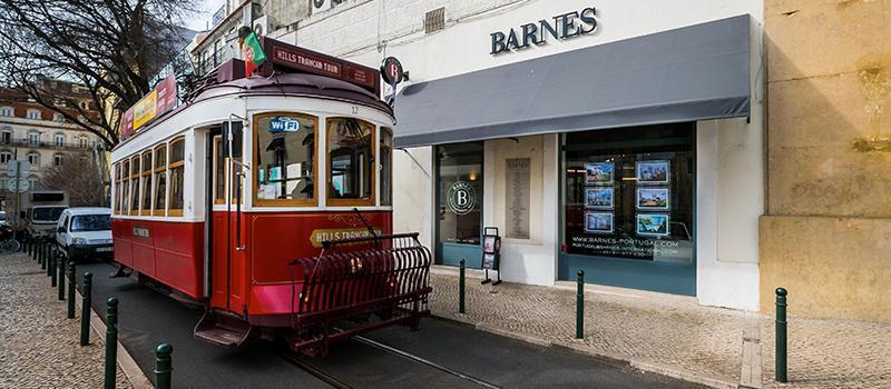 The Tram and the Facade of BARNES Lisboa